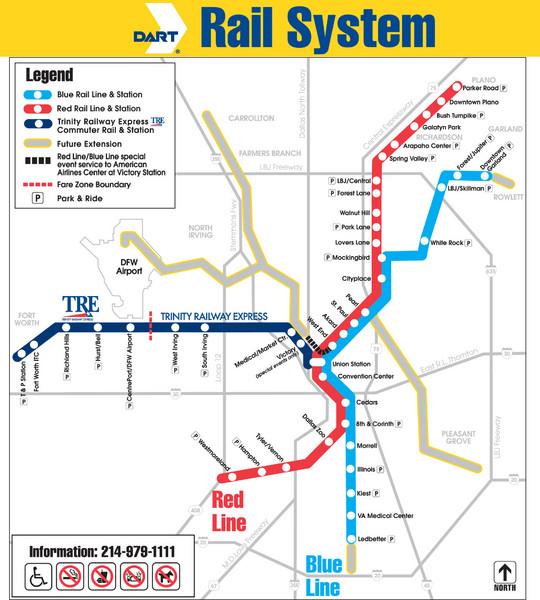 Houston Texas Subway Map.Dallas Metro Map