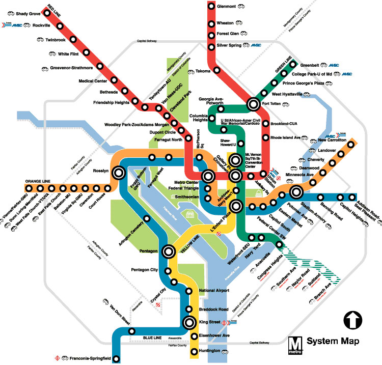 Washington, DC Subway map
